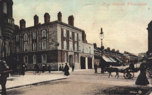 Fire                             Station, Corner Lakedale Road and Plumstead                             High Street c.1910. Photo: Alan Gibbs