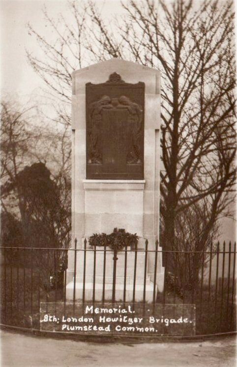 Photo of the Memorial to the 8th London                           Howitzer Brigade, Plumstead Common. Photo:                           Clare Crawford.
