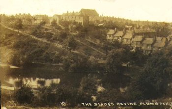 Postcard of The Slade's Ravine c.1910