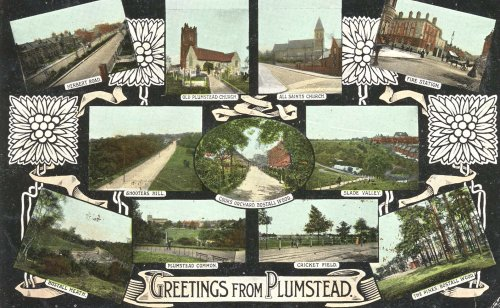 Postcard of various views of Plumstead,                             c.1913