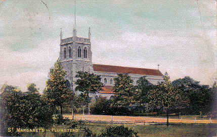 St. Margaret's Church, 1951 now long                             demolished.
