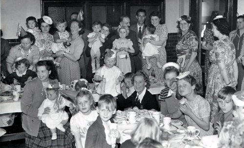 Queen's Coronation Party, 1953 at                             Waverly School