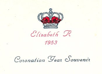 Queen's Coronation Party, 1953 at Waverly                           School - Souvenir Programme